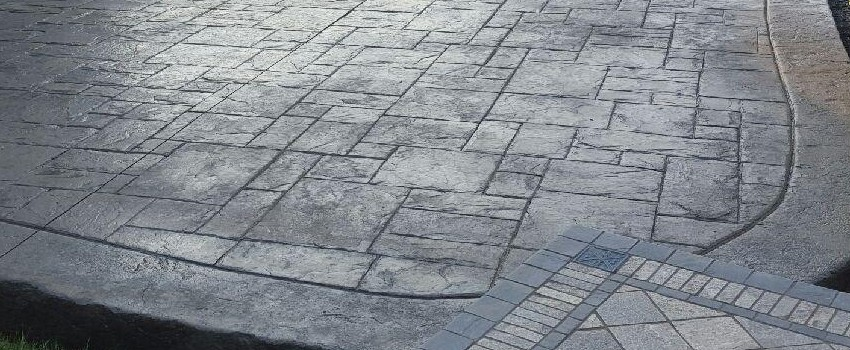 Stamped and Acid Concrete Construction